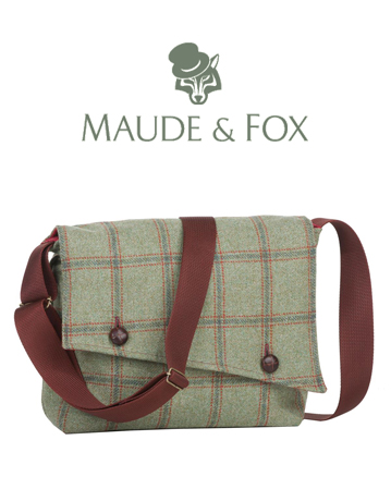 Tweed Messenger Bag by Maude & Fox