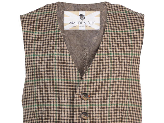 Be dapper in a Houndstooth Tweed Waistcoat from Maude & Fox. Woof Woof!