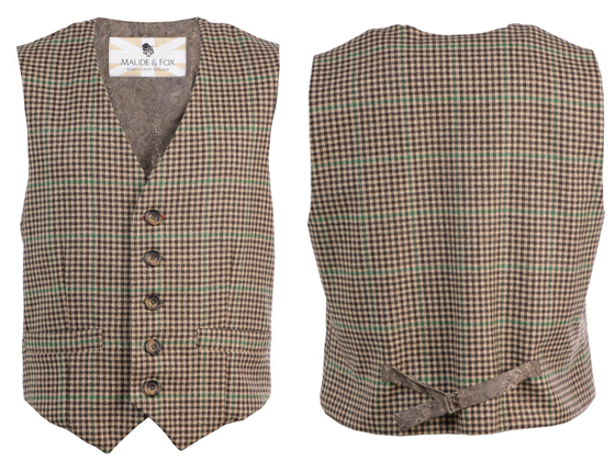 Tweed waistcoat - Front and rear view