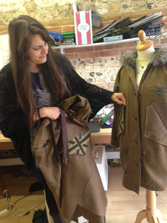 The Maude & Fox team are busy creating new Nosy Parkas in our Dorset studio this week as we prepare for the 2014 Chatsworth Country Fair that takes place this weekend.