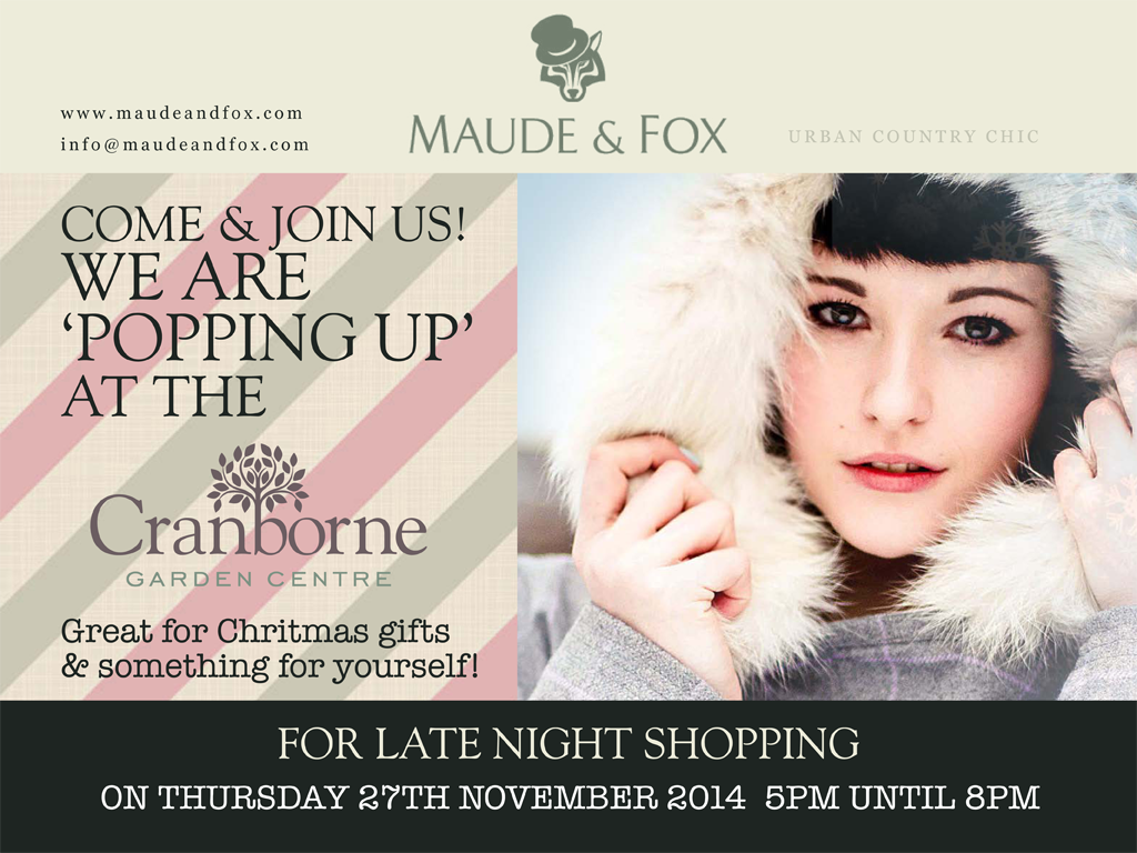 Cranborne Garden Centre: Tweed pop-up & late night Christmas Shopping