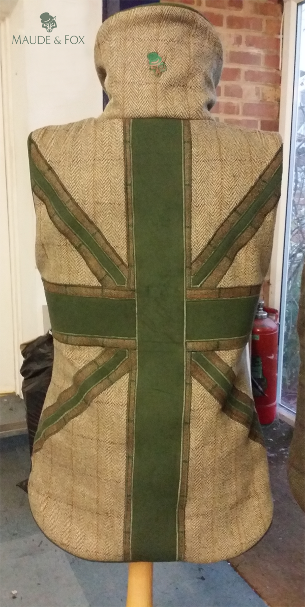 Bespoke ladies Patriot tweed gilet