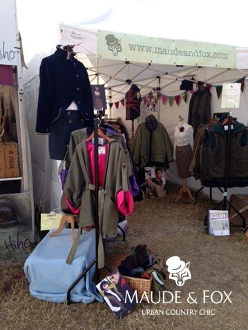 Maude & Fox's tweed clothing collection on show at the 2013 CLA Game Fair