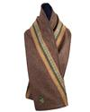 Brown Tweed Stripe Scarf