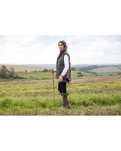 Ladies patriot Red Jack Tweed Gilet