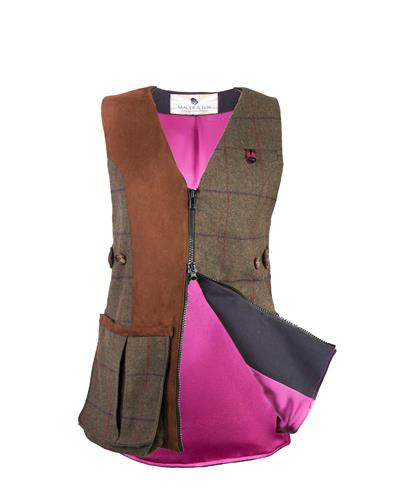 Ladies 'Pull' Tweed Shooting Vest