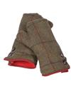 Gents and Ladies Henley mittens red lined ladies/blue lined for gents