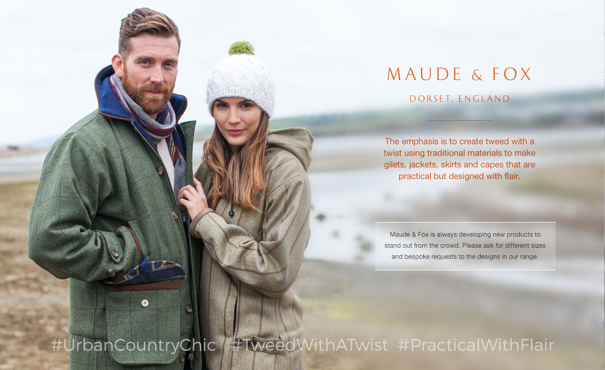 The emphasis is to create tweed with a twist using traditional materials to make gilets, jackets, skirts and capes that are practical but designed with flair.