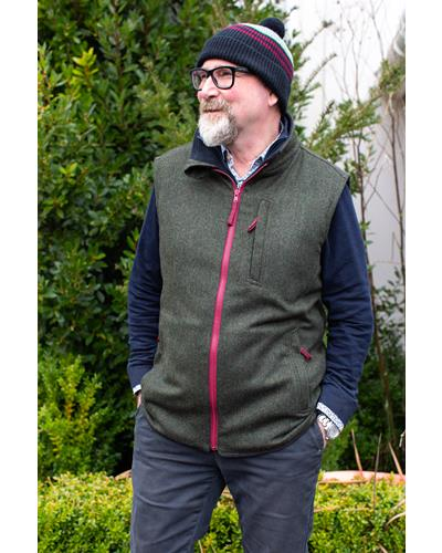The Cecil - lightweight mens tweed gilet