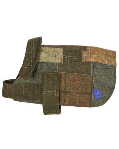 The Cosy - Patch Tweed Dog Coat