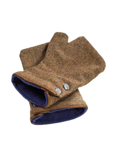The Peat Fingerless Tweed Mittens